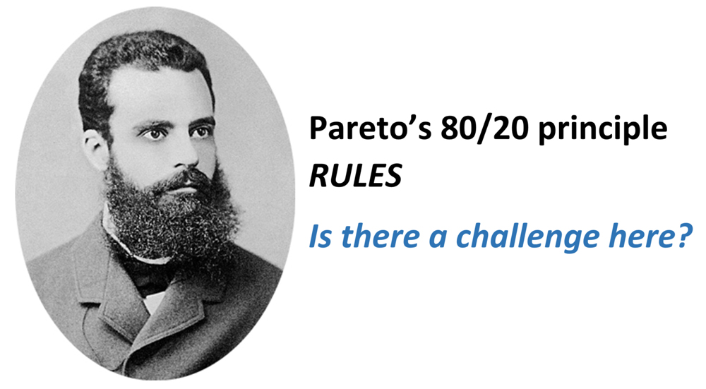 A Challenge to Pareto's 80/20 principle